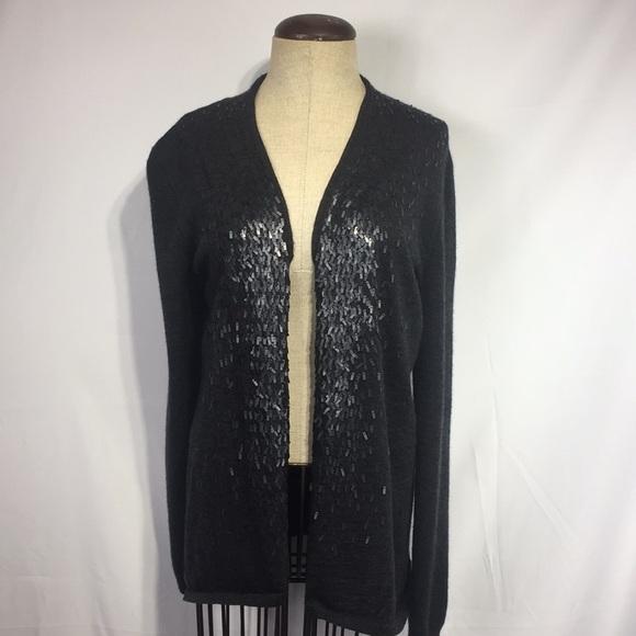 305b602832de Eileen Fisher merino wool sequin cardigan sz Small.  M_5b26af01819e9057b670c0e5